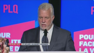 Philippe Couillard displayed no emotion as he conceded defeat in the 2018 Quebec election