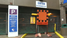 The West Parkade, closed due to construction