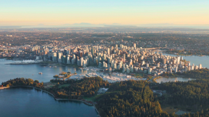Vancouver is seen from CTV's Chopper 9 in September 2018. (Gary Barndt / CTV Vancouver)