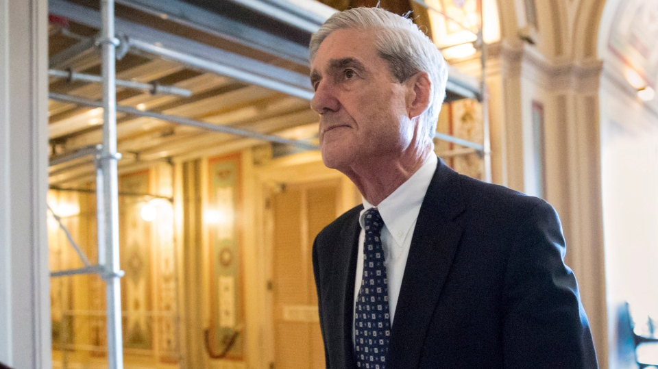 In this June 21, 2017, file photo, special counsel Robert Mueller departs after a meeting on Capitol Hill in Washington. (AP Photo/J. Scott Applewhite)