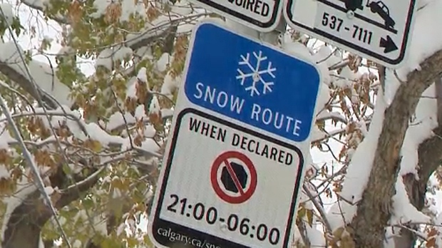 The city says a snow route parking ban will be called into effect at noon on February 18.