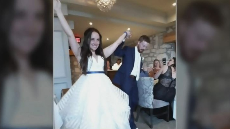 Hayley Dobson and Gregory Robinson say $10,000 was stolen from the glove compartment of their car while they were away on their honeymoon.