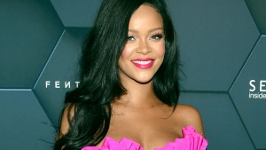 In this Friday, Sept. 14, 2018 file photo, singer Rihanna arrives at the Fenty Beauty by Rihanna one year anniversary party at Sephora in New York. (Photo by Evan Agostini/Invision/AP, File)
