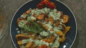 Roasted Fall Vegetables with Pumpkin Vinaigrette