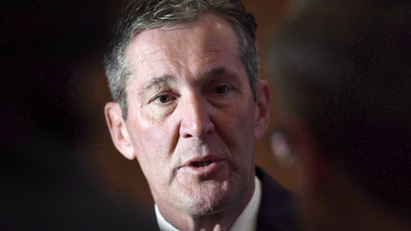 In this file photo, Manitoba Premier Brian Pallister speaks to reporters before a Council of the Federation meeting in Ottawa on Tuesday, Oct. 3, 2017. THE CANADIAN PRESS/Justin Tang