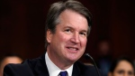 FILE - In this Sept. 27, 2018, file photo, Supreme Court nominee Brett Kavanaugh testifies before the Senate Judiciary Committee on Capitol Hill in Washington. (AP Photo/Andrew Harnik, Pool)