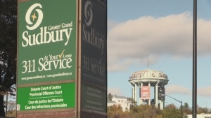 Bylaw officers in Greater Sudbury evicted homeless residents from Memorial Park on Tuesday, with Greater Sudbury Police providing security. (File)