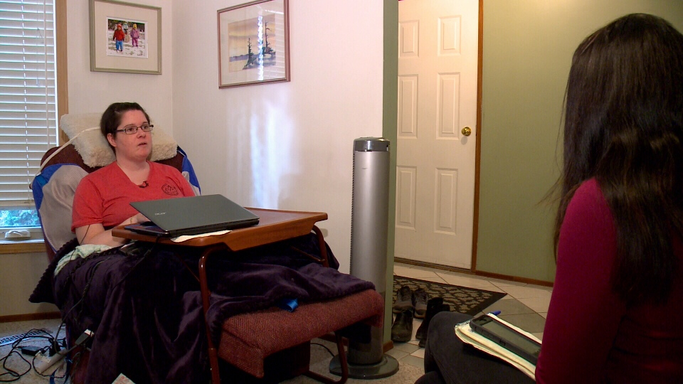 Erin Millikin said she once didn't get out of bed for four days under the province's home care system. (CTV Saskatoon)