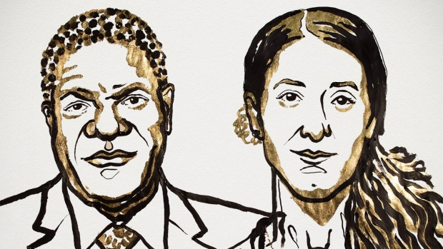 Nobel Peace Prize winners fight rape as 'a weapon of war'