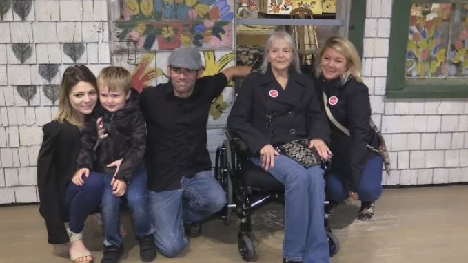 Four generations of Maud Lewis's descendants visited the Art Gallery of Nova Scotia on Oct. 4, 2018. They were all looking at Maud's artwork and visiting her tiny home for the first time.