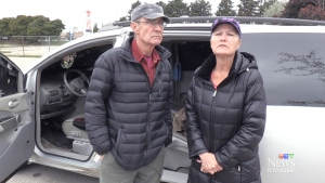 Jerry Power, 59, and Sandra Graham, 57, said they have been living in their minivan for more than three years.