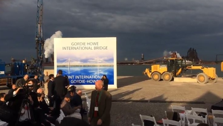 The Canadian Port of Entry for the Gordie Howe International Bridge in Windsor, Ont., on Friday, Oct. 4, 2018. (MIchelle Maluske / CTV Windsor)