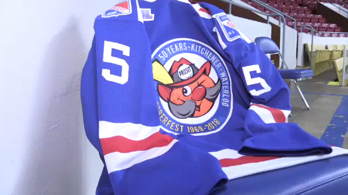 The Kitchener Rangers will wear special-edition Oktoberfest jerseys to commemorate the 50th year.