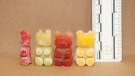Cannabis-infused gummy bears are seen in this 2015 file image provided by police in Quebec.