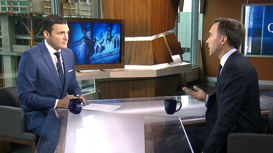 Finance Minister Bill Morneau on CTV's Question Period.