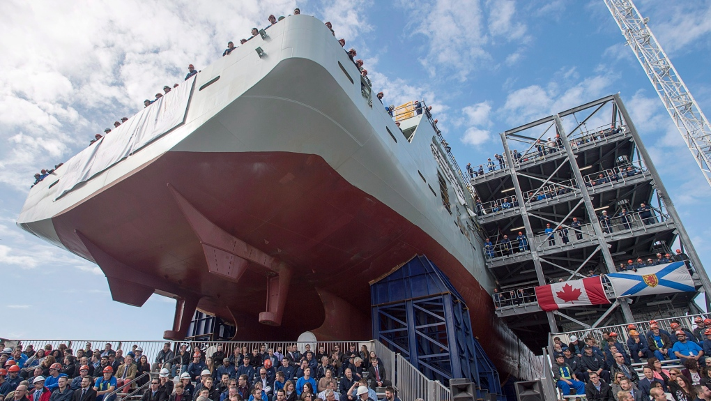 Federal government to buy two more Arctic ships from Irving to prevent layoffs