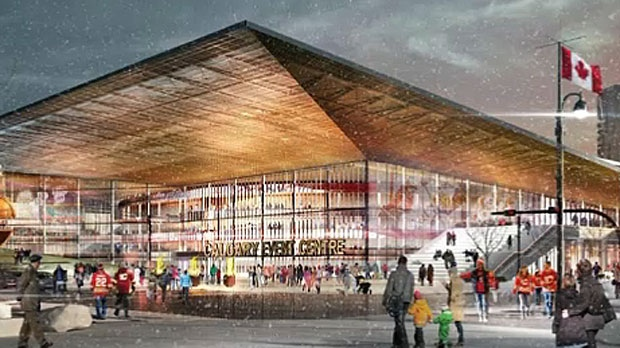 A new concept for a Flames arena, by the same firm that came up with CalgaryNEXT, was released by the CMLC on Friday, October 5, 2018