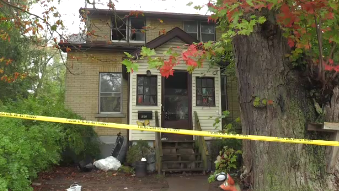 Fire broke out in the basement of this Woolwich Street home. (Oct. 6, 2018)
