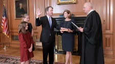 Judge Brett Kavanaugh swearing in