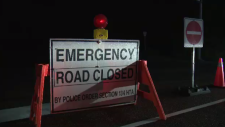 emergency road closed