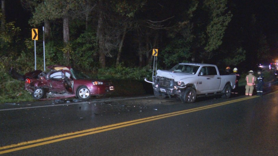 Three were killed in a crash between a car and pickup truck. (Courtesy: Twitter/ @Media371)