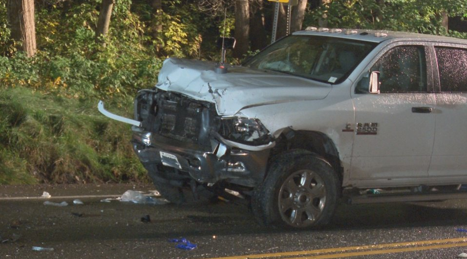 The pickup truck involved in a fatal crash near Rockwood. (Courtesy: Twitter/ @Media371)