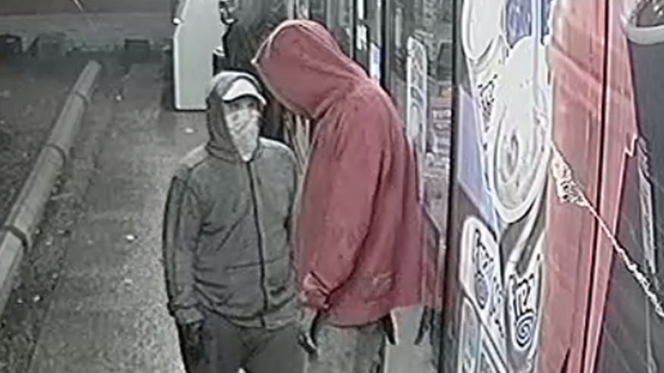 Two men wanted for an armed convenience store robbery. (Courtesy: Brantford Police)