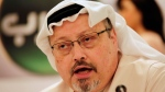 Saudi journalist Jamal Khashoggi speaks during a press conference in Manama, Bahrain, Feb. 1, 2015. (AP Photo/Hasan Jamali)