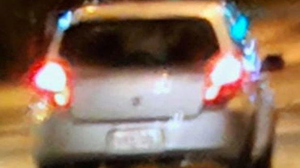 A suspect vehicle involved in a fatal crash in Willowdale is seen. (Toronto police handout)