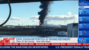 Explosion at irving refinery