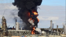 Irving Oil refinery fire
