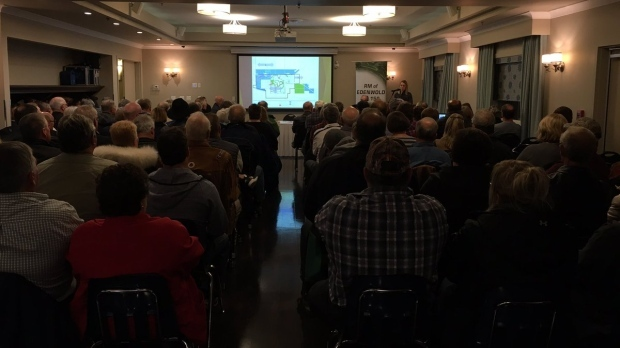 White City is meeting to discuss its proposed annexation of Emerald Park on Oct. 4, 2018. (Taylor Rattray / CTV News)