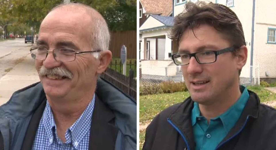 Marcel Boille (left) faces off against against incumbent Matt Allard (right) for the St. Boniface councillor seat.