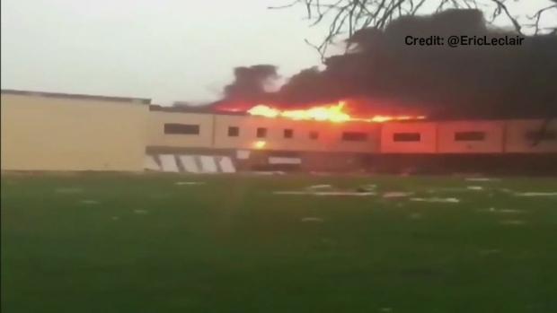 École secondaire Mont-Bleu destroyed by tornado