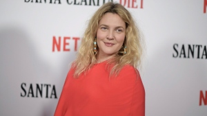 "Drew Barrymore attends the Los Angeles premiere of ""Santa Clarita Diet"" Season 2 at ArcLight Hollywood on Thursday, March 22, 2018, in Los Angeles. (Photo by Richard Shotwell/Invision/AP)"