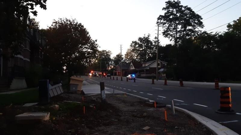 Fatal motorcycle crash on Western Road. (Courtesy Drew Gray)