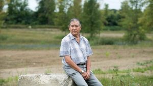 Kahnawake Grand Chief Joe Norton poses on the Kahnawake reserve near Montreal, Tuesday, September 18, 2018. THE CANADIAN PRESS/Graham Hughes