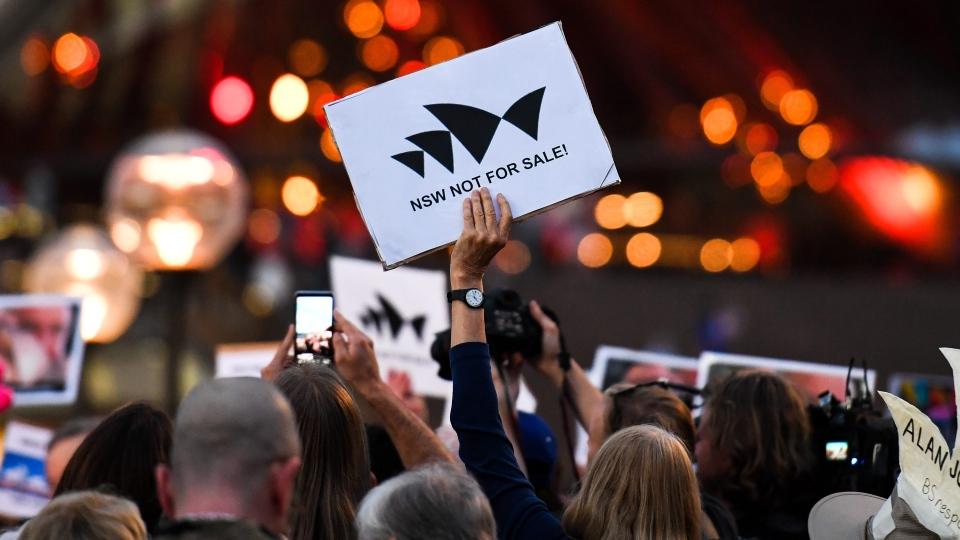 Sydeny Opera house protest