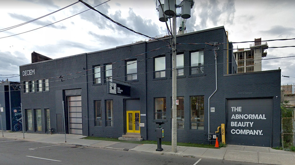 The offices of the Abnormal Beauty Company in Toronto via Google Maps.