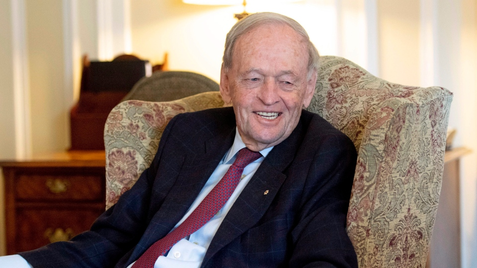 Former prime minister Jean Chretien participates in an interview promoting his new book in Ottawa on Friday, Oct. 5, 2018. THE CANADIAN PRESS/Justin Tang