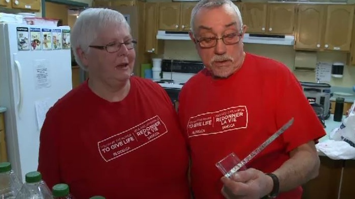 Last month in Ottawa, the Barb and Jim Urquhart were presented with an award from Canadian Blood Services, as Atlantic Canada's honoured volunteers.