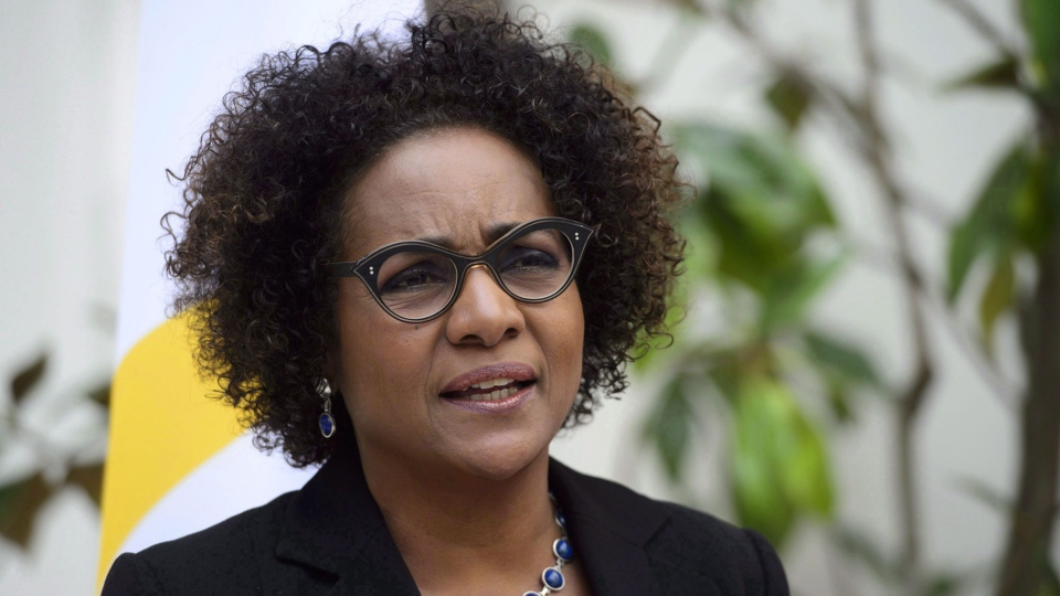 Michaelle Jean, Secretary General of the Organisation Internationale de la Francophonie, is shown at OIF Headquarters in Paris, France on Monday, April 16, 2018. THE CANADIAN PRESS / Sean Kilpatrick