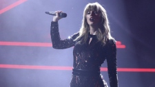 Taylor Swift performs at the AMAs