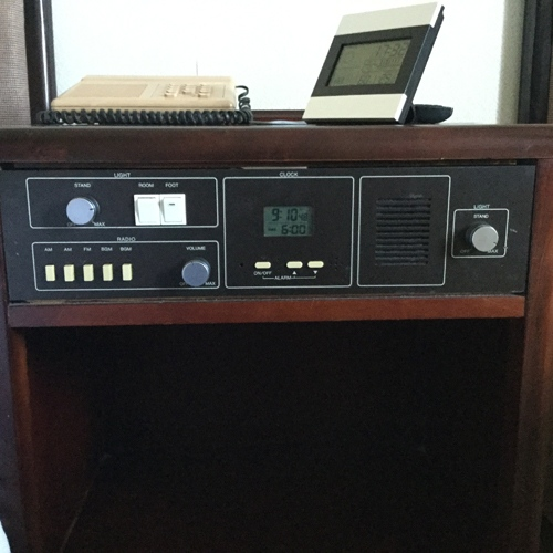 North Korea hotel radio front view