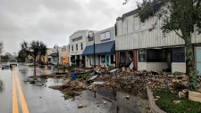 Damage from Hurricane Michael in Florida