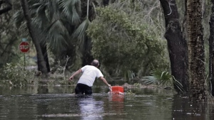 Flooding in St. Marks, Fla.