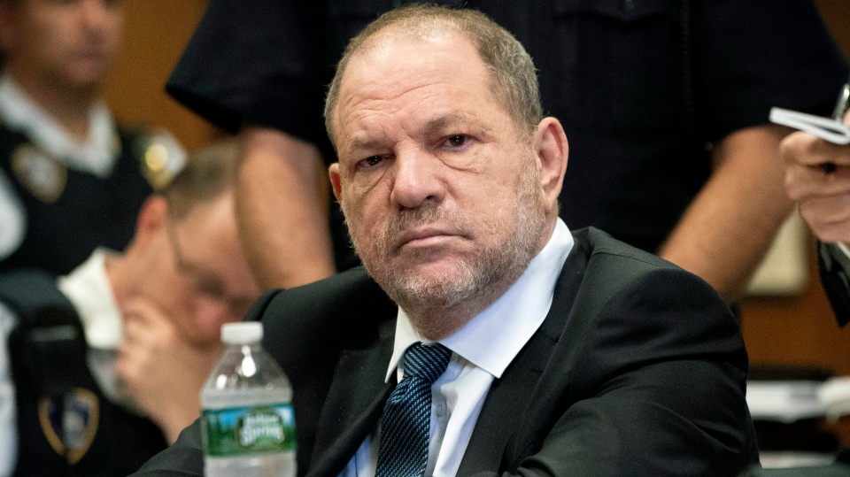 Harvey Weinstein attends a hearing in New York, Thursday, Oct. 11, 2018. (Steven Hirsch /New York Post via AP, Pool)