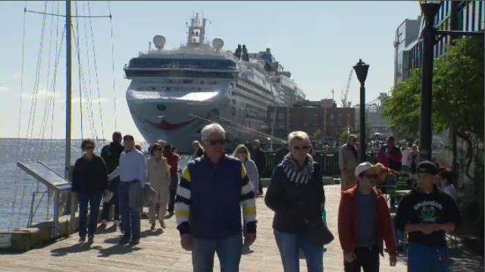 """This year, if everything goes according to the schedule we're looking at about 200 vessel calls and about 300,000 cruise guests and that will be the busiest year that we've ever seen at the Port of Halifax,"" said Port of Halifax spokesman Lane Farguson."