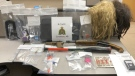 Items seized during an October 6 traffic stop near Cardston that resulted in charges against three women (image: Cardston RCMP)