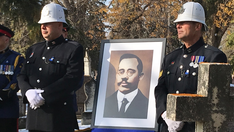 The first EPS officer killed on duty, Const. Frank Beevers, was honoured on Thursday—100 years after his death.